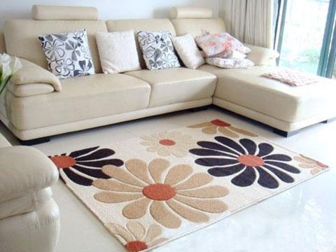 sử dụng thảm trang trí gọn gàng, ngăn nắp