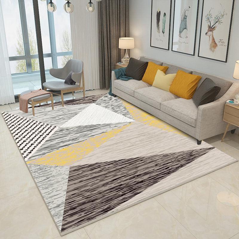 Thảm trải sàn phòng khách bằng nỉ và vải
